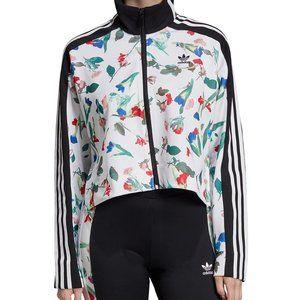 Adidas Bellista Floral Cropped Track Jacket